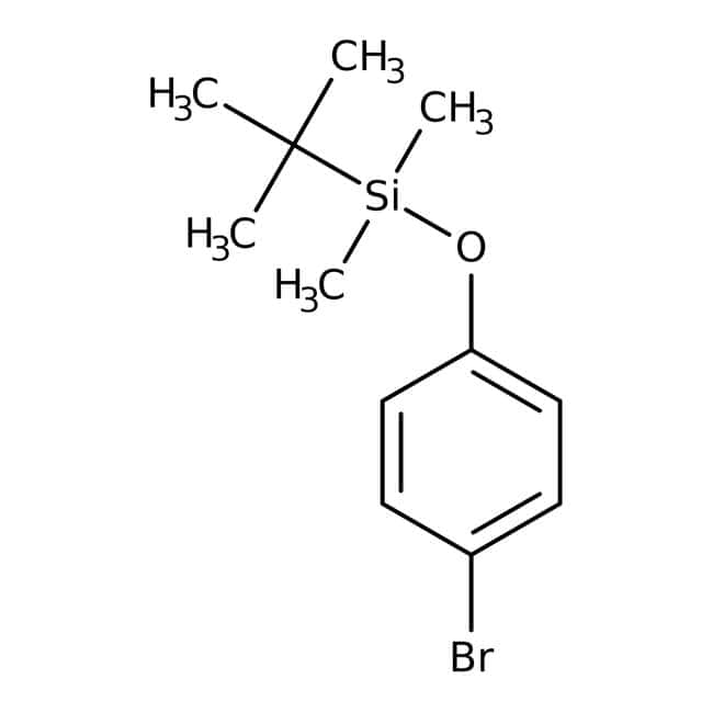 (4-Bromophenoxy)-tert-butyldimethylsilane, 97%, ACROS Organics™ 5mL; Glass bottle (4-Bromophenoxy)-tert-butyldimethylsilane, 97%, ACROS Organics™