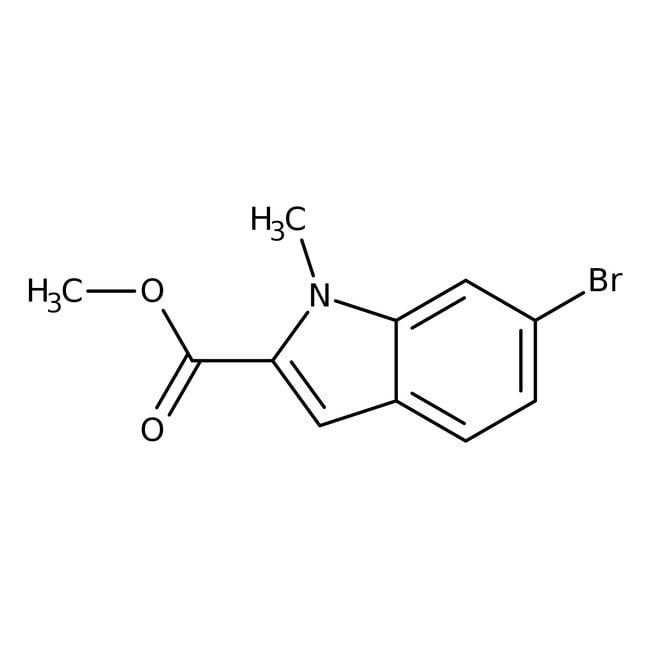 Alfa Aesar™Methyl 6-bromo-1-methylindole-2-carboxylate, 97% 5g Alfa Aesar™Methyl 6-bromo-1-methylindole-2-carboxylate, 97%