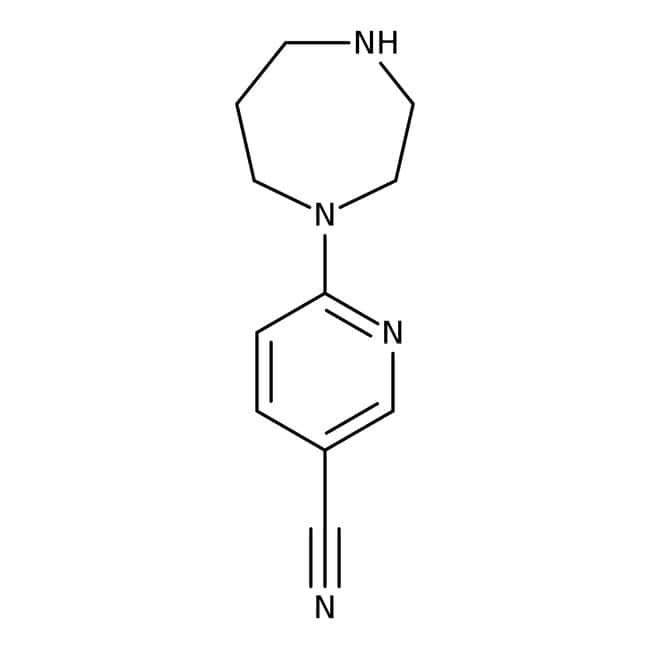 6-(1,4-Diazepan-1yl)nicotinonitrile, ≥97%, Maybridge™ Amber Glass Bottle; 1g 6-(1,4-Diazepan-1yl)nicotinonitrile, ≥97%, Maybridge™