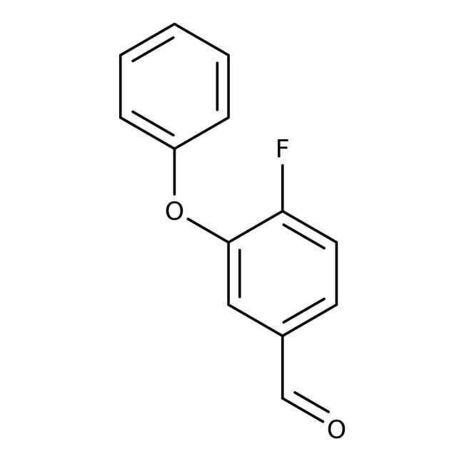 Alfa Aesar™4-Fluoro-3-phenoxybenzaldehyde, 97%: Benzene and substituted derivatives Benzenoids