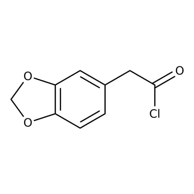 1,3-Benzodioxol-5-ylacetyl chloride, ≥97%, Maybridge™ Amber Glass Bottle; 250mg 1,3-Benzodioxol-5-ylacetyl chloride, ≥97%, Maybridge™