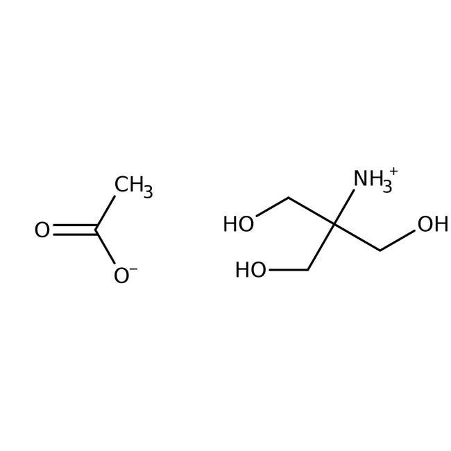 Sel d'acétate de tris(hydroxyméthyl)aminométhane, 99%, ACROS Organics™ 100g ; flacon en plastique Sel d'acétate de tris(hydroxyméthyl)aminométhane, 99%, ACROS Organics™