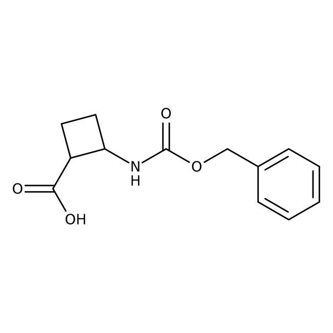 Alfa Aesar™cis-2-(Benzyloxycarbonylamino)cyclobutanecarboxylic acid, 97% 1g Alfa Aesar™cis-2-(Benzyloxycarbonylamino)cyclobutanecarboxylic acid, 97%