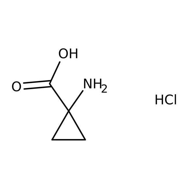1-Aminocyclopropanecarboxylic acid hydrochloride, 97%, ACROS Organics™ 100mg; Glass bottle 1-Aminocyclopropanecarboxylic acid hydrochloride, 97%, ACROS Organics™