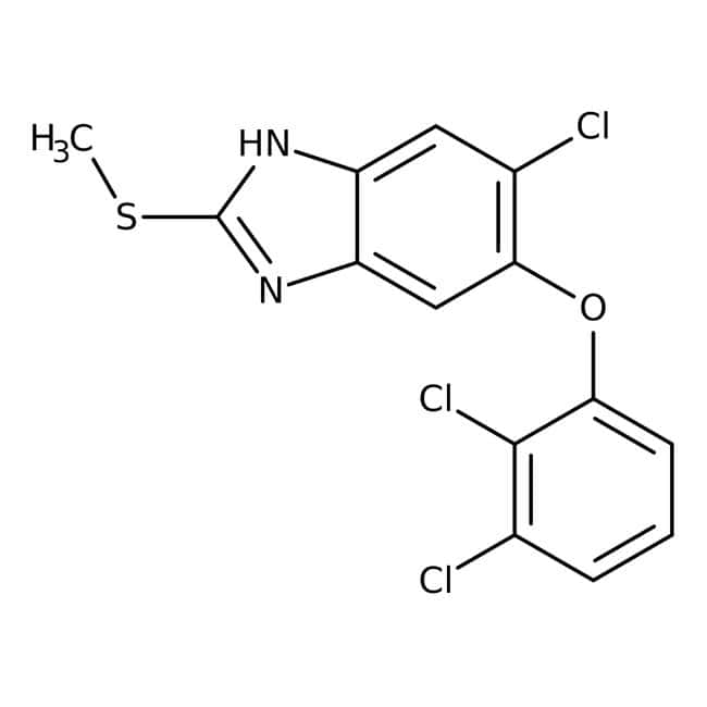 Triclabendazole, 98%, ACROS Organics™ 1g Triclabendazole, 98%, ACROS Organics™