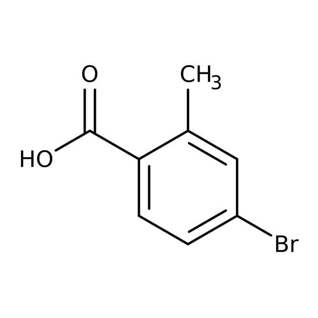 4-Bromo-2-methylbenzoic acid, 97%, ACROS Organics™: Halobenzoic acids and derivatives Benzoic acids and derivatives