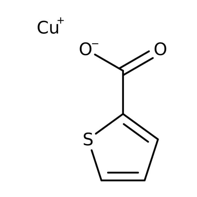Copper(I) thiophene-2-carboxylate, 90%, may contain approx. 20 wt.% Copper(I) oxide, Acros Organics