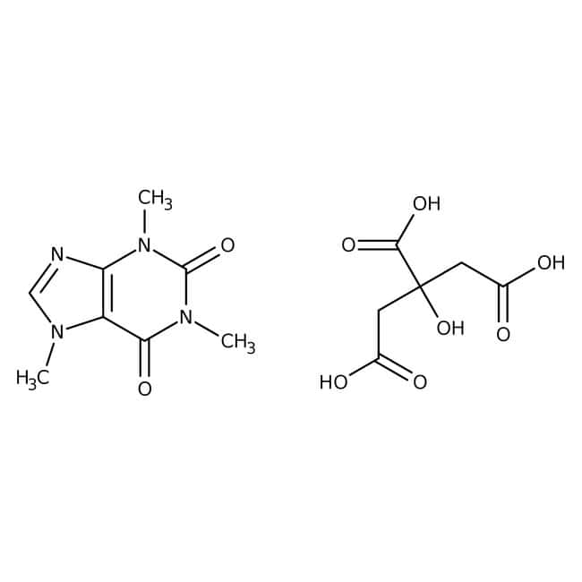 Caffeine, citrated, ACROS Organics™: Purines and purine derivatives Imidazopyrimidines