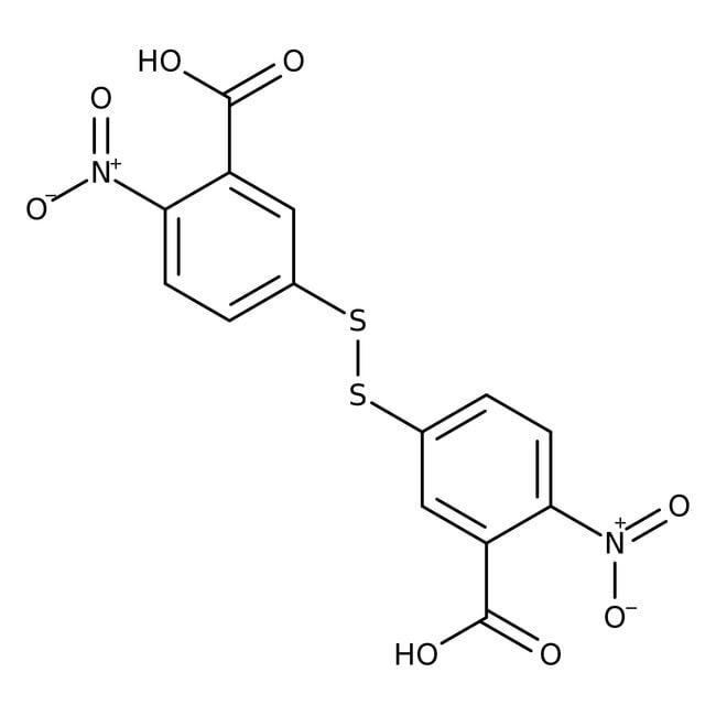 5,5'-Dithiobis-(2-nitrobenzoic acid), 99%, ACROS Organics™ 1g, Glass bottle 5,5'-Dithiobis-(2-nitrobenzoic acid), 99%, ACROS Organics™