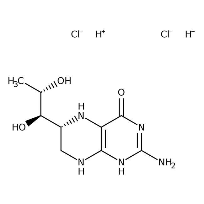 (6R)-5,6,7,8-Tetrahydrobiopterin dihydrochloride, ACROS Organics™  (6R)-5,6,7,8-Tetrahydrobiopterin dihydrochloride, ACROS Organics™