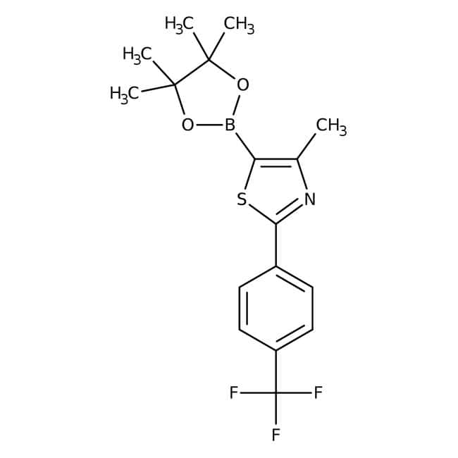 4-Meth-5-(4,4,5,5-tetrameth-1,3,2-dioxaborol-2-yl)-2-(4-(triflmeth)phen)-1,3-thiaz, 97%, Maybridge: Benzene and substituted derivatives Benzenoids