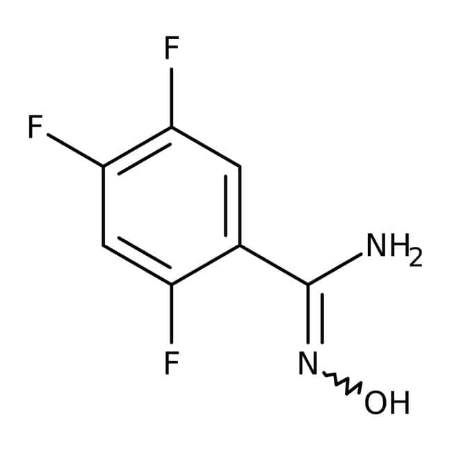 2,4,5-Trifluoro-N'-hidroxibencenocarboximidamida, 97 %, Maybridge 5 g 2,4,5-Trifluoro-N'-hidroxibencenocarboximidamida, 97 %, Maybridge