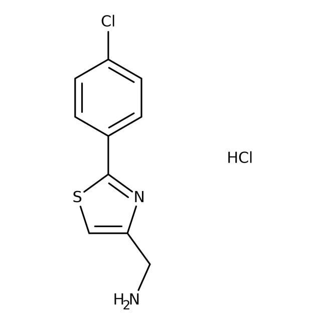 (2-(4-Chlorophenyl)-1,3-thiazol-4-yl)methanamine hydrochloride, 97%, Tech., Maybridge™ Amber Glass Bottle; 1g (2-(4-Chlorophenyl)-1,3-thiazol-4-yl)methanamine hydrochloride, 97%, Tech., Maybridge™
