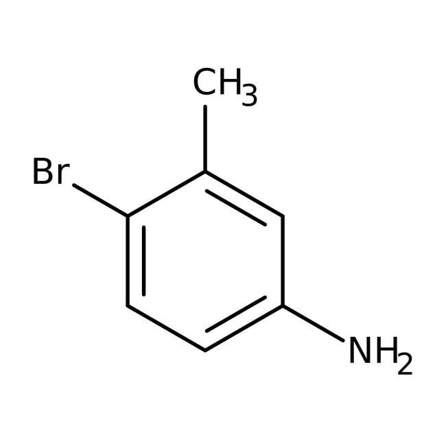 4-Bromo-3-methylaniline, 97%, ACROS Organics™ Glass bottle; 10g 4-Bromo-3-methylaniline, 97%, ACROS Organics™