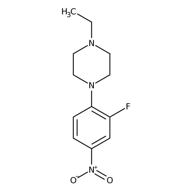 Alfa Aesar™1-Ethyl-4-(2-fluoro-4-nitrophenyl)piperazine, 97% 250mg Alfa Aesar™1-Ethyl-4-(2-fluoro-4-nitrophenyl)piperazine, 97%