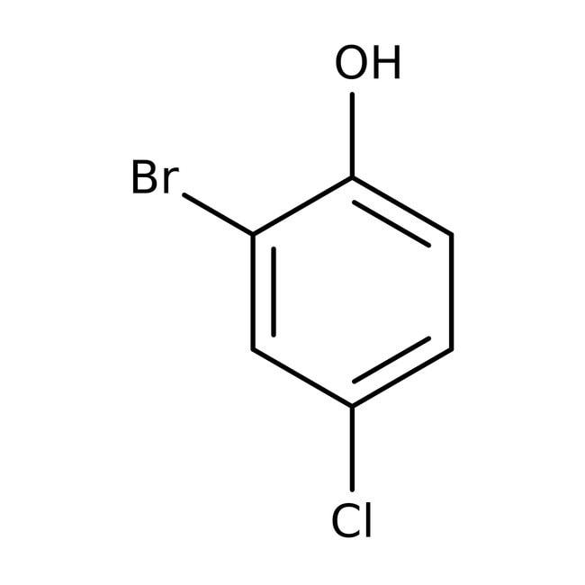 Alfa Aesar™2-Bromo-4-clorofenol, +98 % 25g Alfa Aesar™2-Bromo-4-clorofenol, +98 %
