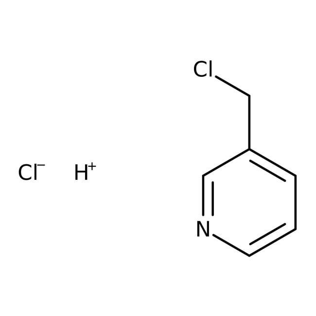 3-chlorhydrate de chlorure de picolyle, 99%, ACROS Organics 5g; flacon en verre 3-chlorhydrate de chlorure de picolyle, 99%, ACROS Organics