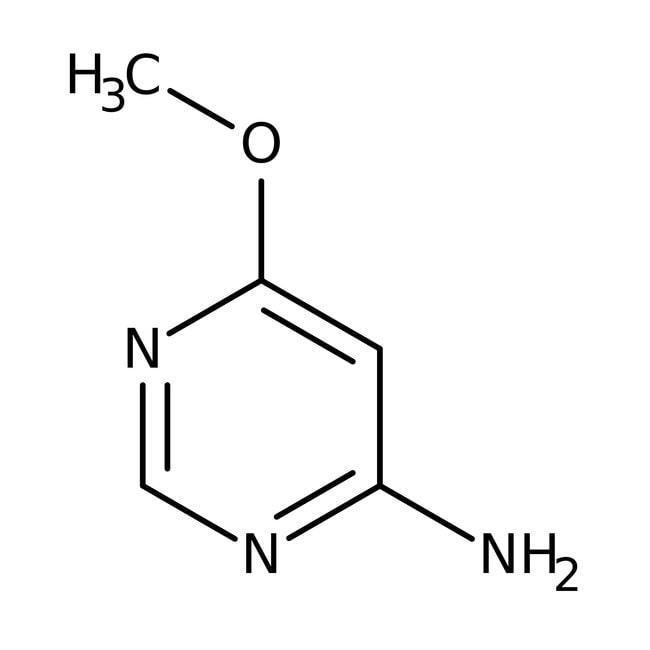 4-Amino-6-methoxypyrimidine, 97%, ACROS Organics™ 25g; Glass bottle 4-Amino-6-methoxypyrimidine, 97%, ACROS Organics™