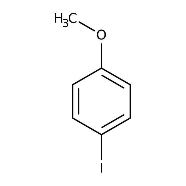 4-Iodoanisole, 98%, ACROS Organics™ 100g; Glass bottle 4-Iodoanisole, 98%, ACROS Organics™