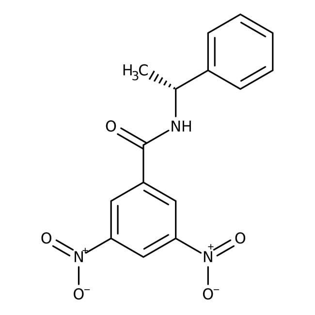 Alfa Aesar™(R)-(-)-N-(3,5-Dinitrobenzoyl)-1-phenylethylamine 0.1g Alfa Aesar™(R)-(-)-N-(3,5-Dinitrobenzoyl)-1-phenylethylamine