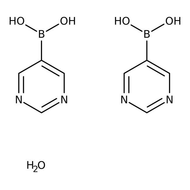 Alfa Aesar™Pyrimidine-5-boronic acid hemihydrate, 97% 10g Alfa Aesar™Pyrimidine-5-boronic acid hemihydrate, 97%
