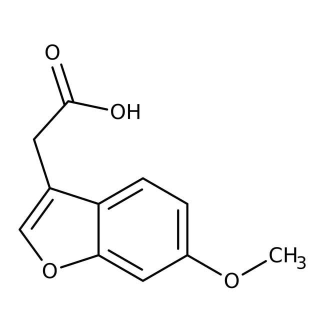 2-(6-Methoxy-1-benzofuran-3-yl)acetic acid, 97%, Maybridge™ Amber Glass Bottle; 1g prodotti trovati