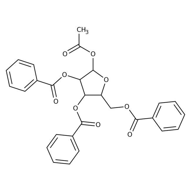 β-D-Ribofuranose 1-acetate 2,3,5-tribenzoate, 99%, ACROS Organics™