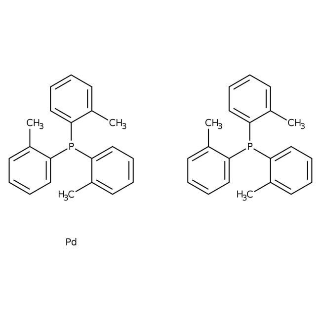 Bis(tri-o-tolylphosphine)palladium(0), Pd 14.9%, Alfa Aesar™ 250mg Bis(tri-o-tolylphosphine)palladium(0), Pd 14.9%, Alfa Aesar™