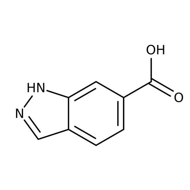 1H-Indazole-6-carboxylic acid, 97%, ACROS Organics™ 5g; Glass bottle 1H-Indazole-6-carboxylic acid, 97%, ACROS Organics™