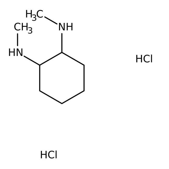 trans-(1R,2R)-(-)-N,N'-Dimethyl-1,2-cyclohexanediamine dihydrochloride, 98%, Acros Organics