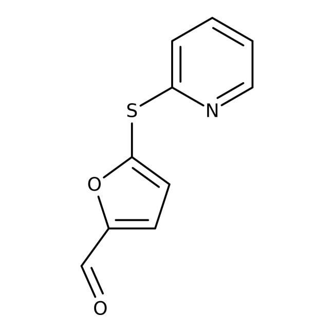 5-(2-Pyridinylsulfanyl)-2-furaldehyde, 95+%, Maybridge 5g 5-(2-Pyridinylsulfanyl)-2-furaldehyde, 95+%, Maybridge