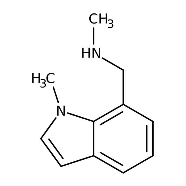 N-Methyl-(1-methyl-1h-indol-7-yl)methylamin, 90 %, Maybridge Braunglasflasche, 1 g N-Methyl-(1-methyl-1h-indol-7-yl)methylamin, 90 %, Maybridge