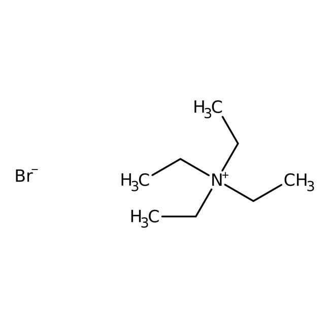 Tetraethylammonium bromide, 99+%, ACROS Organics™ 250g; Glass bottle Tetraethylammonium bromide, 99+%, ACROS Organics™