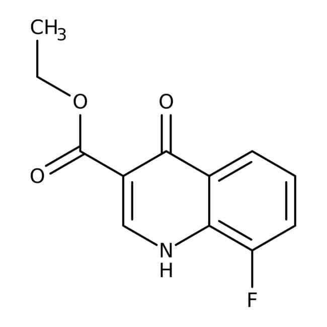 Ethyl-8-fluor-4-oxo-1,4-dihydrochinolin-3-carboxylat, 97 %, Maybridge Braunglasflasche, 1 g Ethyl-8-fluor-4-oxo-1,4-dihydrochinolin-3-carboxylat, 97 %, Maybridge