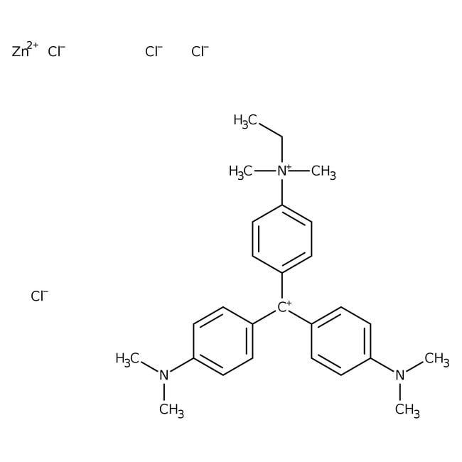 Methyl Green, zinc chloride salt, pure, certified, Acros Organics 25g; Glass bottle Methyl Green, zinc chloride salt, pure, certified, Acros Organics