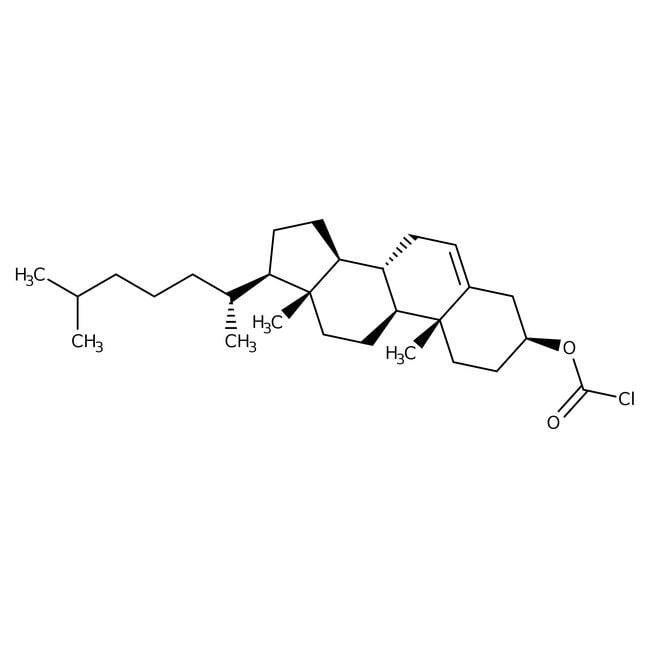 Cholesteryl Chloroformate 97%, ACROS Organics™ 25g; Glass bottle Cholesteryl Chloroformate 97%, ACROS Organics™