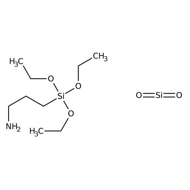 Silica gel, functionalized, Amino-3, ca.1.4mmol/g, part.size 40-63 micron, ACROS Organics™ 25g; Glass bottle Silica gel, functionalized, Amino-3, ca.1.4mmol/g, part.size 40-63 micron, ACROS Organics™