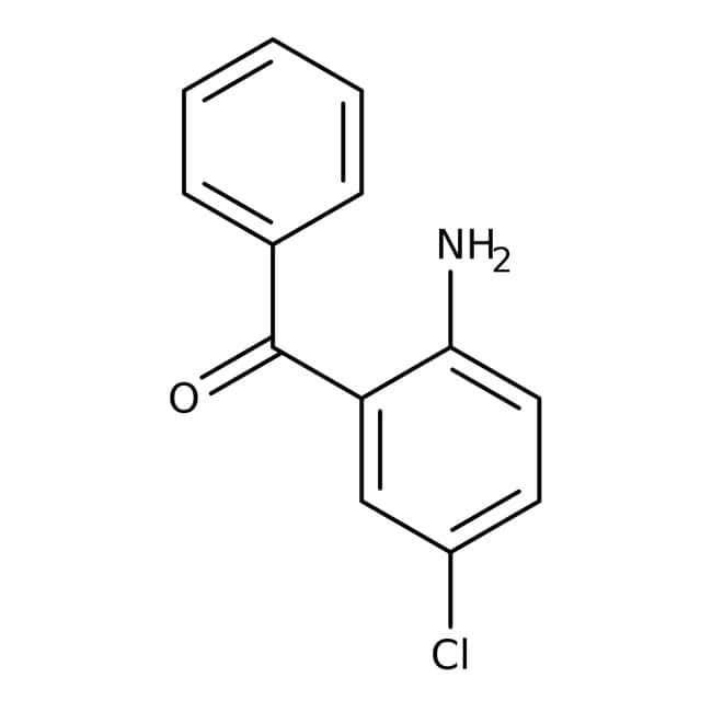 Alfa Aesar™ 2-Amino-5-chlorobenzophenone, 98+%: Benzene and substituted derivatives Benzenoids