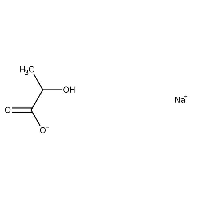 Alfa Aesar™Natrium-DL-Lactat, 60% w/w wässrige Lösung 250ml Alfa Aesar™Natrium-DL-Lactat, 60% w/w wässrige Lösung