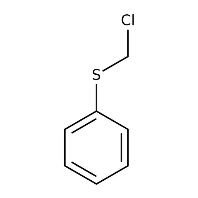 Chloromethyl phenyl sulfide, 97%, ACROS Organics™ 5g; Glass bottle Chloromethyl phenyl sulfide, 97%, ACROS Organics™