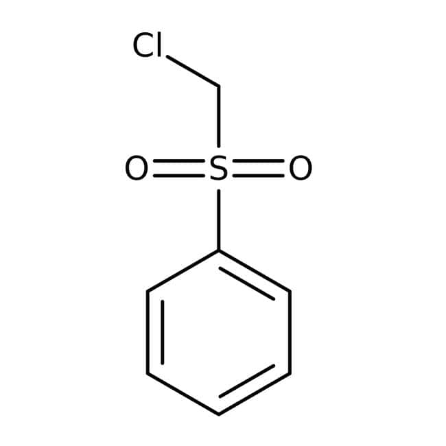 Chloromethyl phenyl sulfone, 99%, Acros Organics 5g; Glass bottle Chloromethyl phenyl sulfone, 99%, Acros Organics