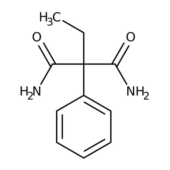 2-Ethyl-2-phenylmalonamide hydrate, 97%, contains max. 25% water, ACROS Organics