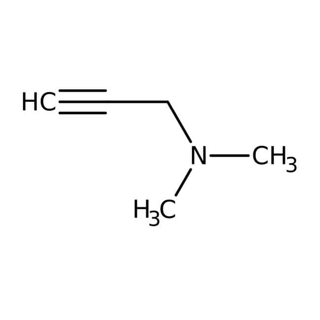 1-Diméthylamino-2-propyne, 97%, ACROS Organics™ 25g; flacon en verre 1-Diméthylamino-2-propyne, 97%, ACROS Organics™
