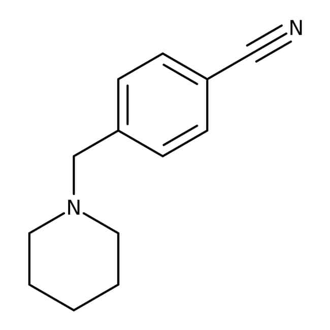4-(Piperidin-1-ylmethyl)benzonitrile, ≥97%, Maybridge 5g 4-(Piperidin-1-ylmethyl)benzonitrile, ≥97%, Maybridge