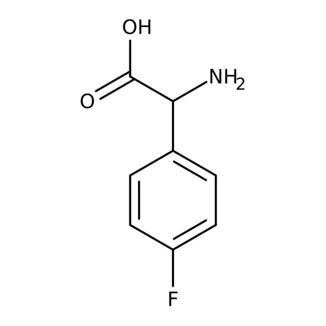 4-Fluoro-DL-α-phenylglycine, 98+%, ACROS Organics™ 5g; Glass bottle 4-Fluoro-DL-α-phenylglycine, 98+%, ACROS Organics™
