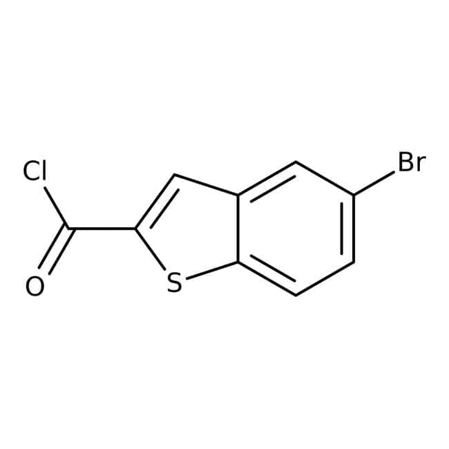 5-Bromo-1-benzothiophene-2-carbonyl chloride, 97%, Maybridge™ Amber Glass Bottle; 1g 5-Bromo-1-benzothiophene-2-carbonyl chloride, 97%, Maybridge™