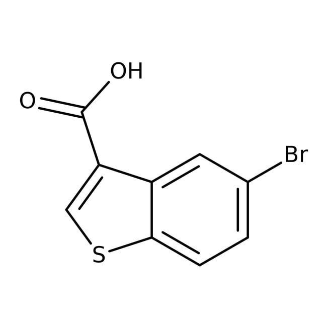 5-Bromobenzo[b]thiophene-3-carboxylic acid, 97%, Maybridge Amber Glass Bottle; 250mg 5-Bromobenzo[b]thiophene-3-carboxylic acid, 97%, Maybridge