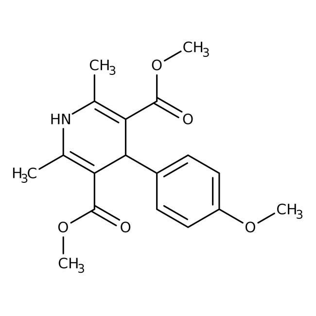 Dimethyle4-(4-methoxyphenyl)-2,6-dimethyl-1,4-dihydropyridine-3,5-dicarboxylate, 97%, Maybridge™ 1g; Amber Glass Bottle Dimethyle4-(4-methoxyphenyl)-2,6-dimethyl-1,4-dihydropyridine-3,5-dicarboxylate, 97%, Maybridge™