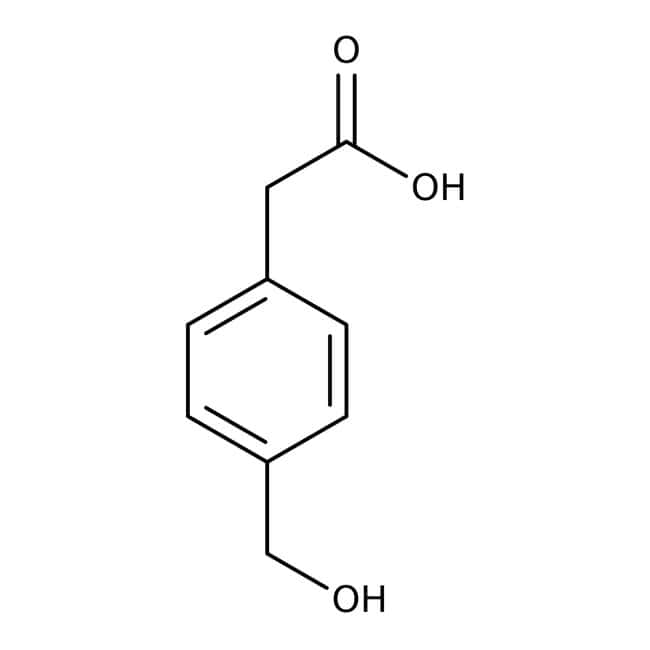 Alfa Aesar™Ácido 4-(hidroximetil)fenilacético, 98% 5g Alfa Aesar™Ácido 4-(hidroximetil)fenilacético, 98%