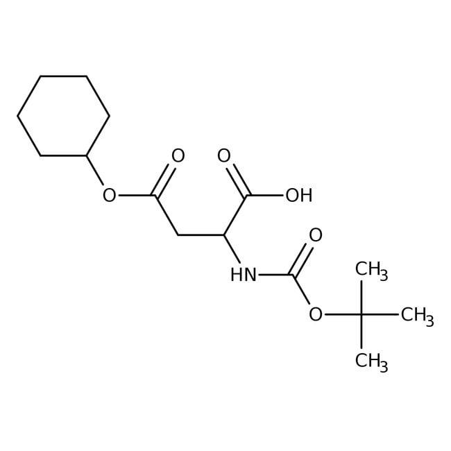 Alfa Aesar™N-Boc-L-aspartic acid 4-cyclohexyl ester, 95% 5g Alfa Aesar™N-Boc-L-aspartic acid 4-cyclohexyl ester, 95%